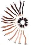 Екстеншън цяла глава- 100% човешка коса- път на страни - средни цветове